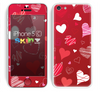 The Red Sketched Love Hearts Illustrastion Skin for the Apple iPhone 5c