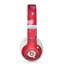 The Red Sketched Love Hearts Illustrastion Skin for the Beats by Dre Studio (2013+ Version) Headphones