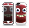 The Red Smiling Fuzzy Wuzzy Skin for the iPhone 5-5s OtterBox Preserver WaterProof Case