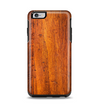 The Red Tinted WoodGrain Apple iPhone 6 Plus Otterbox Symmetry Case Skin Set
