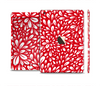 The Red Vector Floral Sprout Full Body Skin Set for the Apple iPad Mini 3