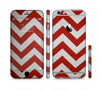 The Red Vintage Chevron Pattern Sectioned Skin Series for the Apple iPhone 6 Plus