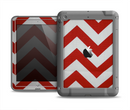 The Red Vintage Chevron Pattern Apple iPad Air LifeProof Fre Case Skin Set