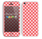 The Red & White Plaid Skin for the Apple iPhone 5c