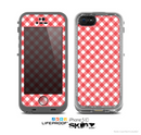 The Red & White Plaid Skin for the Apple iPhone 5c LifeProof Case