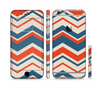 The Red, White and Blue Textile Chevron Pattern Sectioned Skin Series for the Apple iPhone 6 Plus