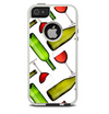 The Red Wine Bottles and Glasses Skin For The iPhone 5-5s Otterbox Commuter Case