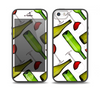 The Red Wine Bottles and Glasses Skin Set for the iPhone 5-5s Skech Glow Case