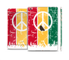 The Red, Yellow & Green Layered Peace Full Body Skin Set for the Apple iPad Mini 3