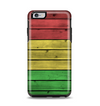 The Red, Yellow and Green Wood Planks Apple iPhone 6 Plus Otterbox Symmetry Case Skin Set