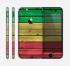 The Red, Yellow and Green Wood Planks Skin for the Apple iPhone 6