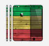 The Red, Yellow and Green Wood Planks Skin for the Apple iPhone 6 Plus