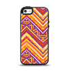 The Red, Yellow and Purple Vibrant Aztec Zigzags Apple iPhone 5-5s Otterbox Symmetry Case Skin Set
