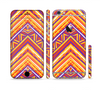 The Red, Yellow and Purple Vibrant Aztec Zigzags Sectioned Skin Series for the Apple iPhone 6