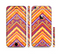 The Red, Yellow and Purple Vibrant Aztec Zigzags Sectioned Skin Series for the Apple iPhone 6 Plus