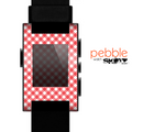 The Red & White Plaid Skin for the Pebble SmartWatch