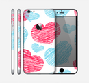 The Red and Blue Lopsided Loop-Hearts Skin for the Apple iPhone 6 Plus