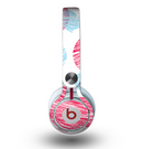 The Red and Blue Lopsided Loop-Hearts Skin for the Beats by Dre Mixr Headphones