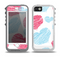 The Red and Blue Lopsided Loop-Hearts Skin for the iPhone 5-5s OtterBox Preserver WaterProof Case