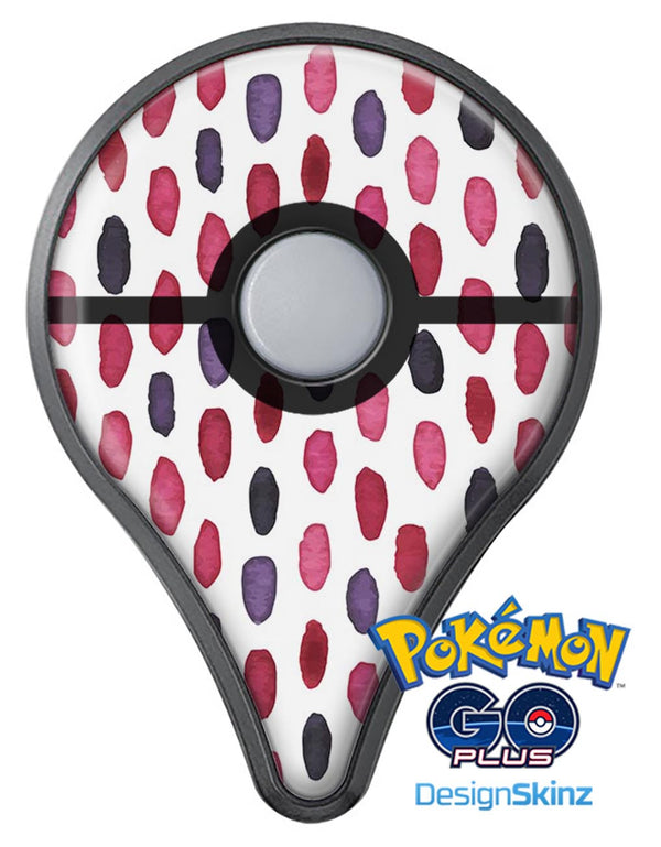 The Red and Purple Water Marks Pokémon GO Plus Vinyl Protective Decal Skin Kit