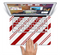 "The Red and White Slanted Vector Stripes Skin Set for the Apple MacBook Pro 15"" with Retina Display"