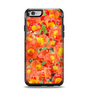 The Red and Yellow Watercolor Flowers Apple iPhone 6 Otterbox Symmetry Case Skin Set