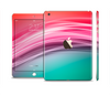 The Red to Green Electric Wave Full Body Skin Set for the Apple iPad Mini 3