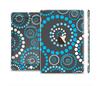 The Retro Blue Circle-Dotted Pattern Full Body Skin Set for the Apple iPad Mini 3
