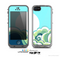 The Retro Vintage Vector Waves Skin for the Apple iPhone 5c LifeProof Case