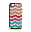 The Retro Chevron Pattern with Digital Camo Apple iPhone 5-5s Otterbox Symmetry Case Skin Set
