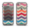 The Retro Chevron Pattern with Digital Camo Apple iPhone 5c LifeProof Nuud Case Skin Set