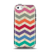 The Retro Chevron Pattern with Digital Camo Apple iPhone 5c Otterbox Symmetry Case Skin Set