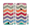 The Retro Chevron Pattern with Digital Camo Sectioned Skin Series for the Apple iPhone 6