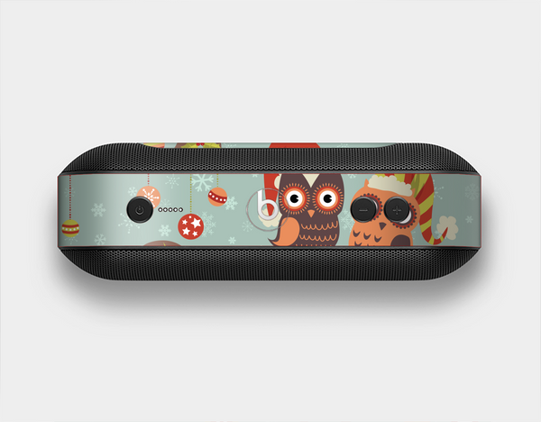 The Retro Christmas Owls with Ornaments Skin Set for the Beats Pill Plus