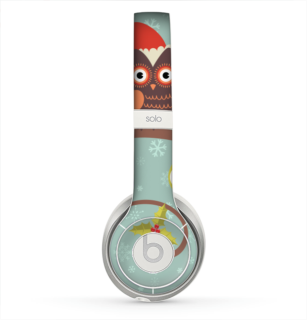 The Retro Christmas Owls with Ornaments Skin for the Beats by Dre Solo 2 Headphones