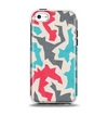 The Retro Colored Abstract Maze Pattern Apple iPhone 5c Otterbox Symmetry Case Skin Set