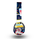 The Retro Colored Cassette Pattern Skin for the Beats by Dre Original Solo-Solo HD Headphones