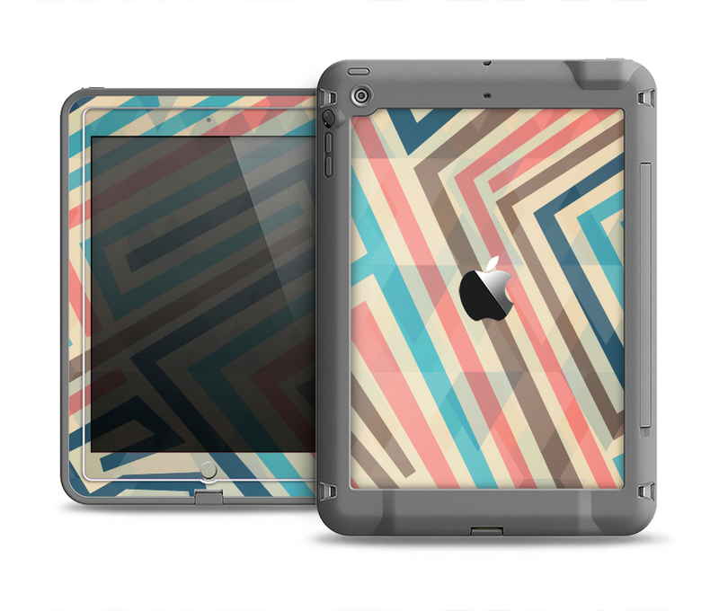 The Retro Colored Maze Pattern Apple iPad Air LifeProof Fre Case Skin Set