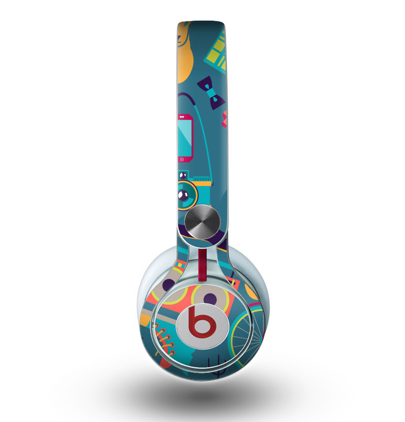 The Retro Colorful Hipster Pattern V2 Skin for the Beats by Dre Mixr Headphones