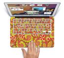 "The Retro Red and Green Floral Pattern Skin Set for the Apple MacBook Pro 15"" with Retina Display"
