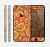 The Retro Red and Green Floral Pattern Skin for the Apple iPhone 6