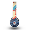 The Retro Vintage Blue vector Waves V3 Skin for the Beats by Dre Original Solo-Solo HD Headphones