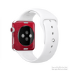 The Rich Red Leather Full-Body Skin Kit for the Apple Watch