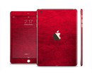 The Rich Red Leather Full Body Skin Set for the Apple iPad Mini 3