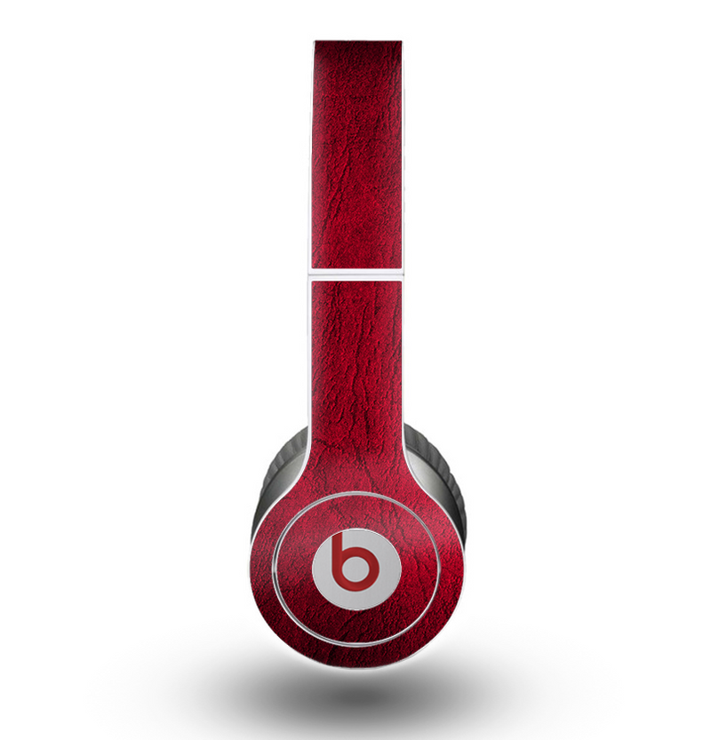 The Rich Red Leather Skin for the Beats by Dre Original Solo-Solo HD Headphones