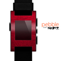 The Rich Red Leather Skin for the Pebble SmartWatch