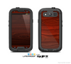 The Rich Red Wood grain Skin For The Samsung Galaxy S3 LifeProof Case