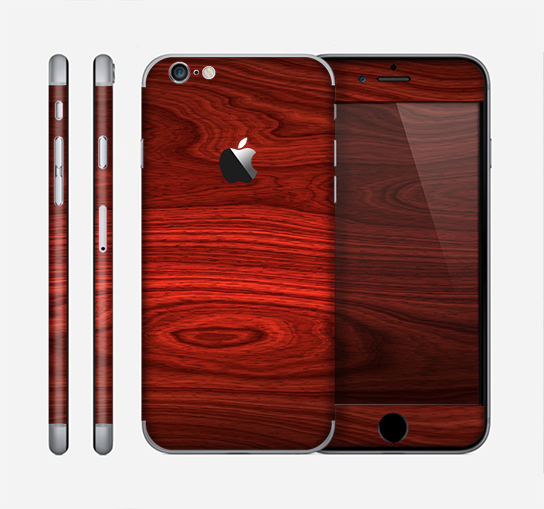 The Rich Red Wood grain Skin for the Apple iPhone 6