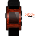 The Rich Red Wood grain Skin for the Pebble SmartWatch