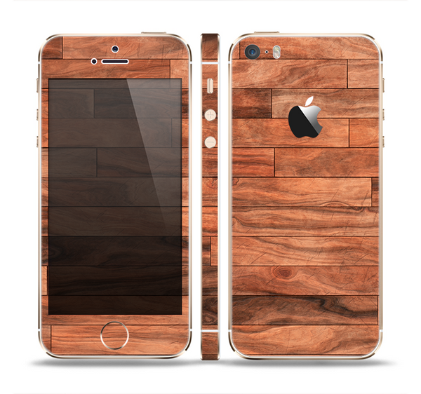 The Rich Wood Planks Skin Set for the Apple iPhone 5s